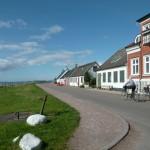 Vägen mellan havet och husen i Borstahusen