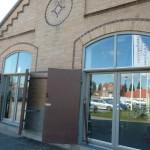 I Pumphuset kan man se både konstutställning och utställning om Borstahusen