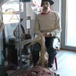 Fiskegubbe i Pumphusets utställning om Borstahusen
