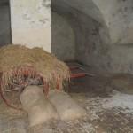 I katakomberna förvarades även soldaternas mat. Kan inte ha varit jättefräsch.