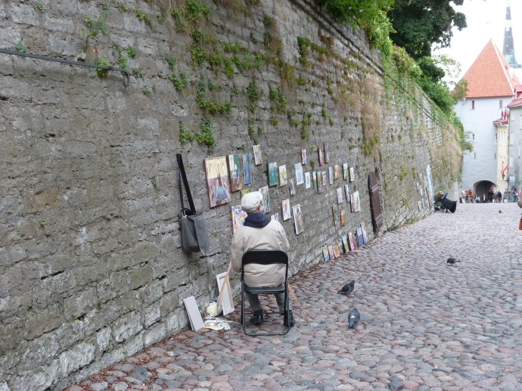 240 Tallin, här fanns många konstnärer.