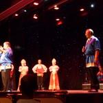 På kvällen i St Petersburg var det en föreställning med ryska dansare och tre ryska tenorer, mycket fint.