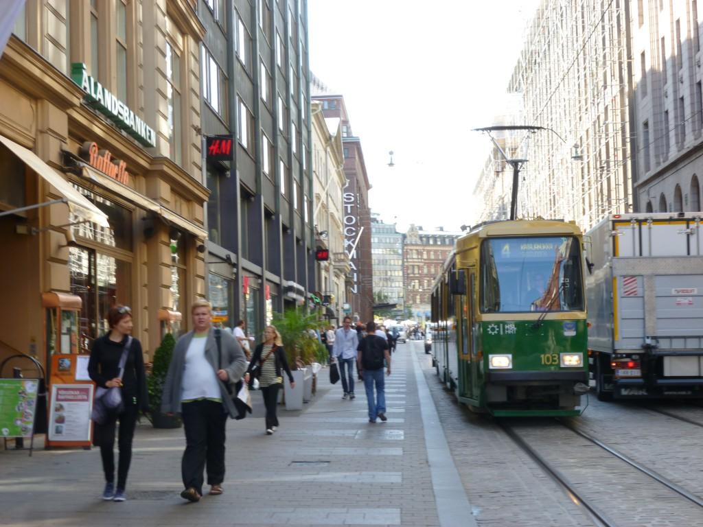 Spårvagnar finns i Helsingfors