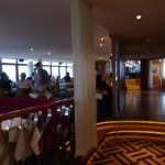 Vi åt lunch i land för omväxlings skull, på Restaurang Gondolen vid Katarinahissen.